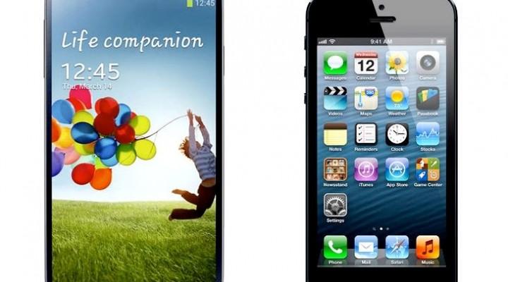 Samsung Galaxy S4 corning GG3 vs. iPhone 5