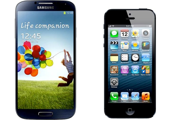 Samsung Galaxy S4 corning GG3 vs. iPhone 5
