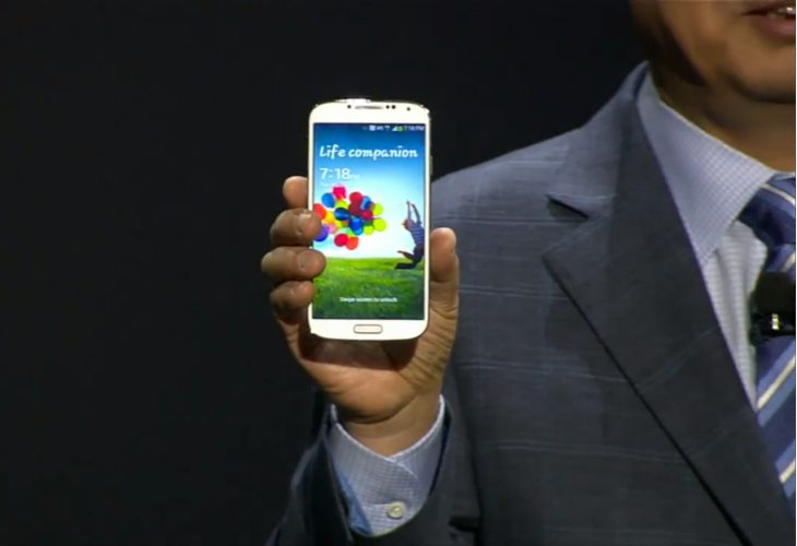 Samsung Galaxy S4 unpacked on stage 2