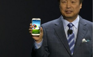Samsung Galaxy S4 unpacked on stage