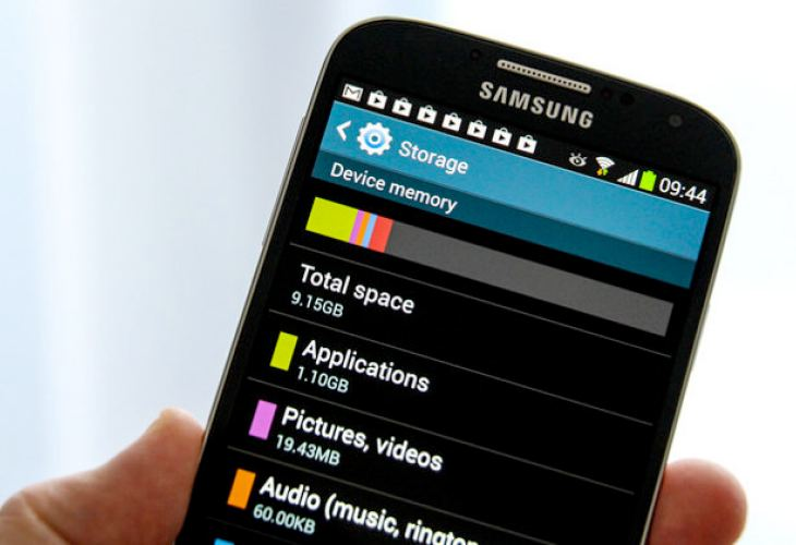 Samsung Galaxy S4 update to rectify storage issue