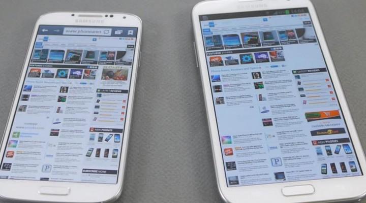 Samsung Galaxy S4 vs. Note 2 in visual showcase