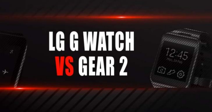 Samsung Gear 2 vs. LG G Watch by key features