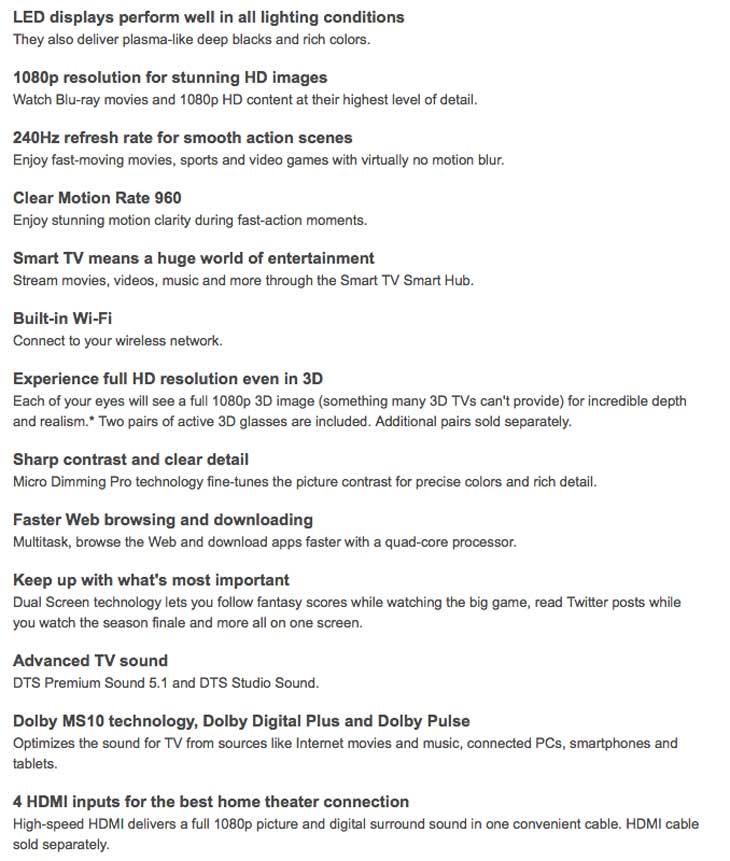 Samsung-H7150-full-specs-list