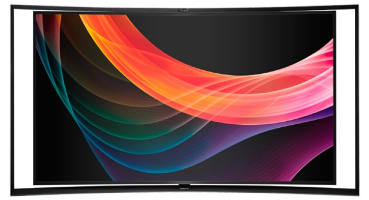 Samsung OLED S9C curved TV