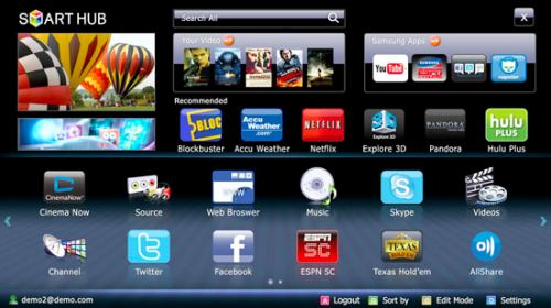 Samsung Smart TV: Connected with Twitter, Skype, Facebook
