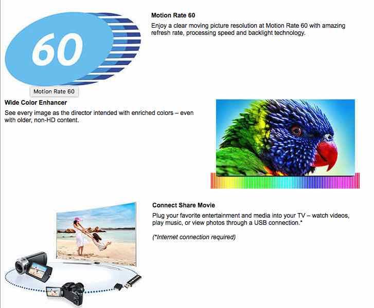 Samsung UN32J5003AF features