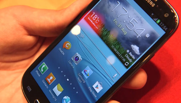 Samsung's dark Galaxy S3 in Jelly Bean visual