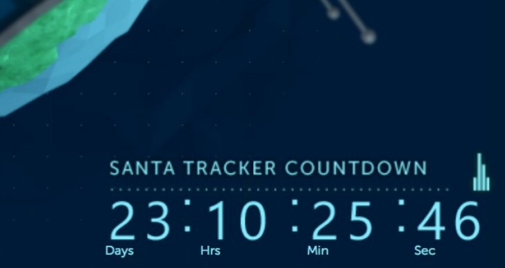 Santa Tracker 2013 Christmas countdown live with games