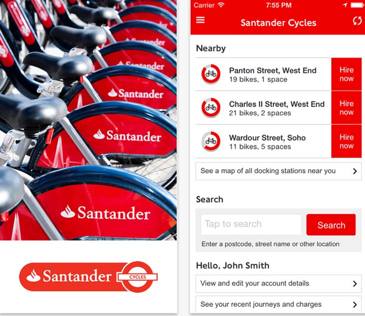 Santander-Cycles-app