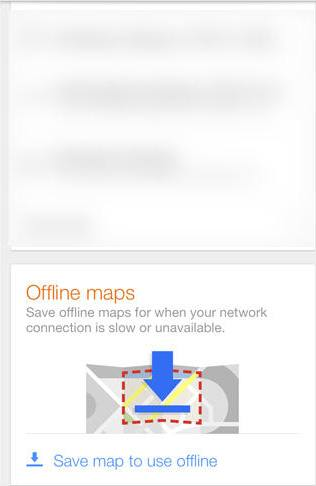 Save Google Maps offline