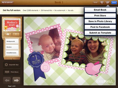 ScrapPad - Mothers Day Photo Journal for iOS