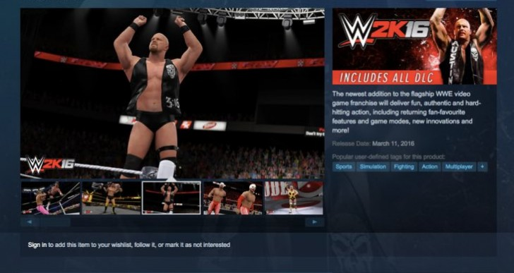 WWE 2K16 PC download with preload time mystery