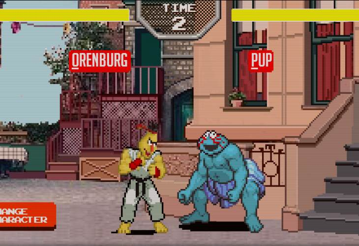 Sesame Street Fighter vs. Flappy Bert