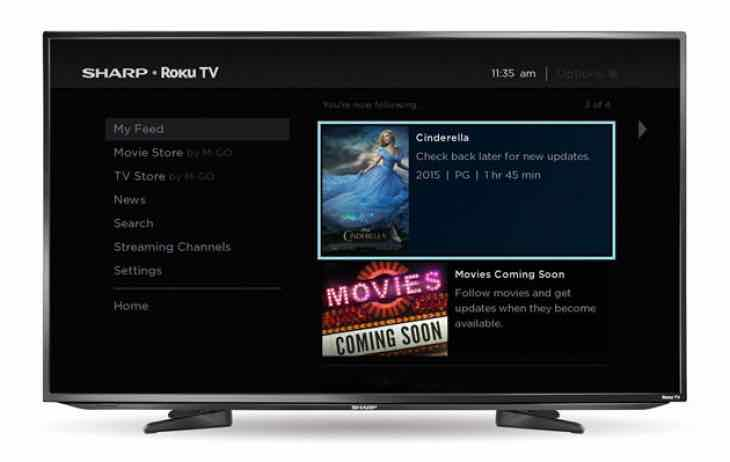 Sharp partners with Roku for Smart TV 2015 lineup