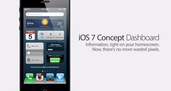 Simplistic iOS 7 features with dramatic modifications