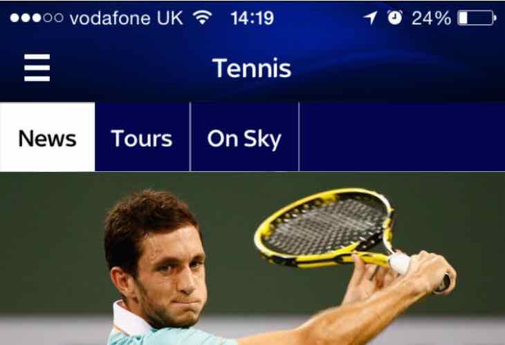 Sky Sports app update