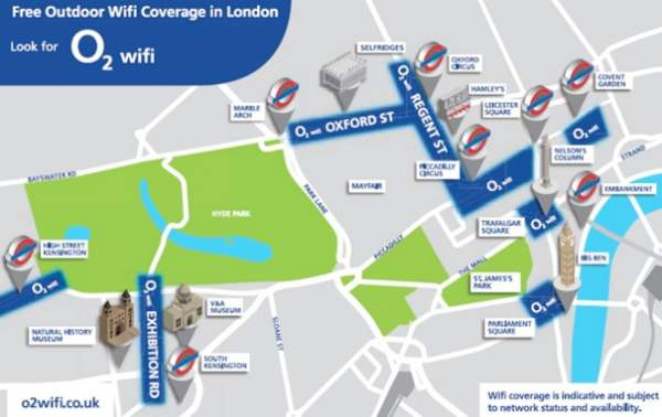 Sky UK continues free Wi-Fi in London
