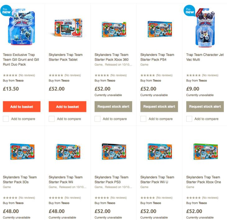 Skylanders Trap Team UK price roundup