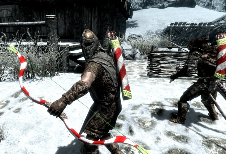 Skyrim Christmas mod list included lanterns