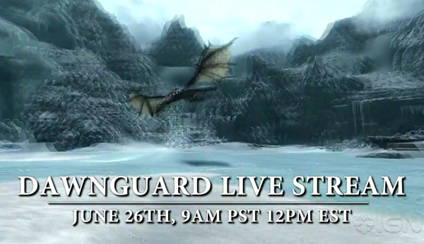 Skyrim Dawnguard DLC: New teaser for live stream