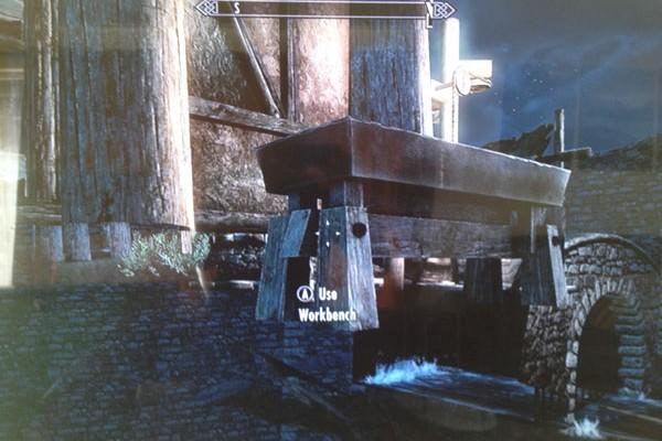 Skyrim Dawnguard under map glitch appears