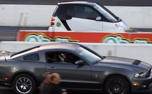 Smart ForTwo vs. Shelby Mustang in unlikely drag