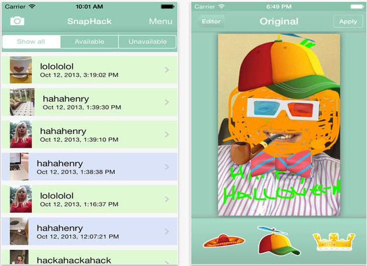 SnapHack Pro app saves Snapchat screenshot without them knowing