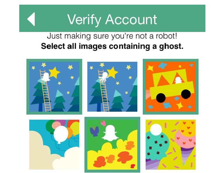 Snapchat repel bots using ghost images for security