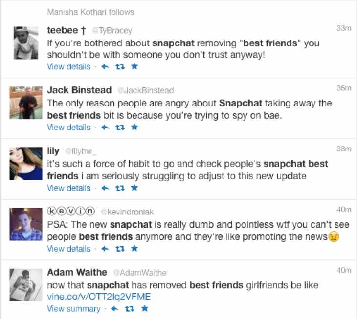 Snapchat best friends deleted