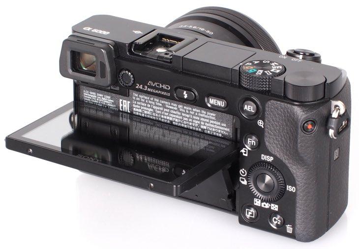 Sony Alpha A6000 rear display