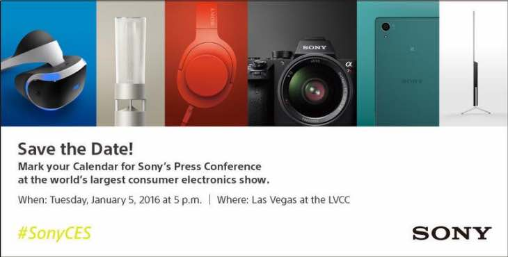 Sony CES 2016 press conference