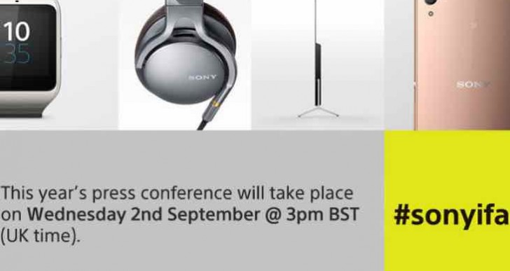 Sony IFA 2015 live streaming today