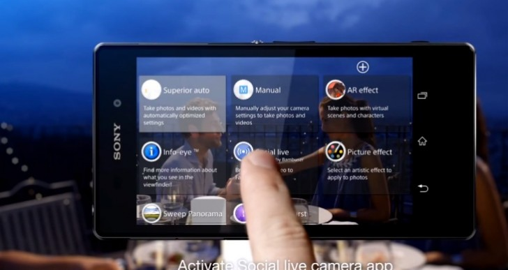 Sony Xperia Z1 Social Live feature demoed