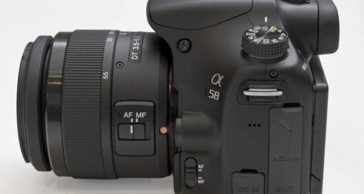 Sony Alpha a58 vs. a57 video review confrontation pending