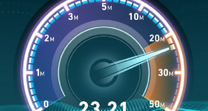 Broadband speed test app on Android vs. iPad