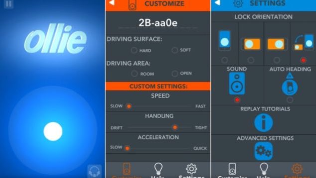 Sphero Ollie app controls