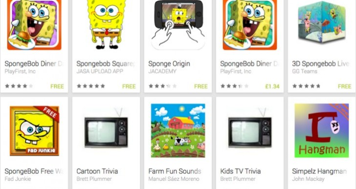 SpongeBob SquarePants games for Android