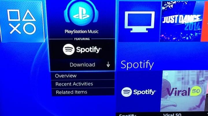 Spotify app live on PS4