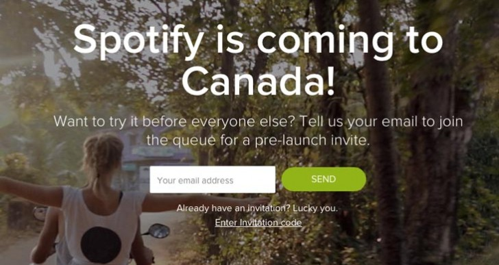 Spotify code before Canada launch date