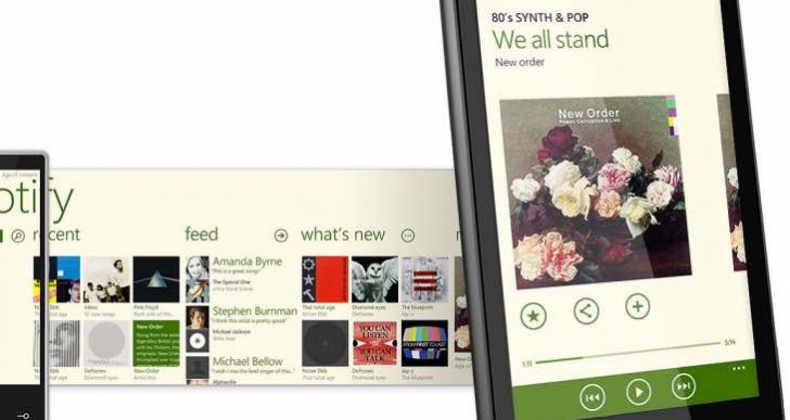 Spotify continues Windows Phone support