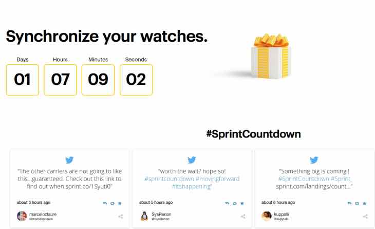 Sprint Countdown for announcement