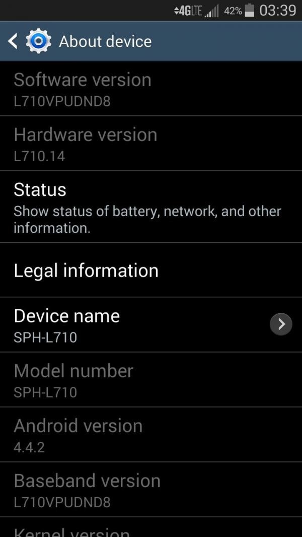 Sprint Galaxy S3 Android 4.4.2 update