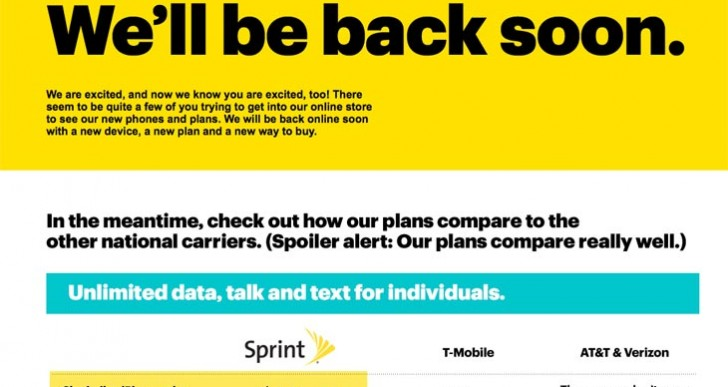 Sprint Store is down, not working during maintenance