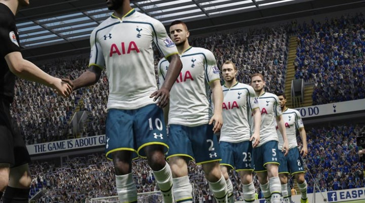 Spurs Eric Dier and LFC's Jordan Henderson at FIFA 15 launch