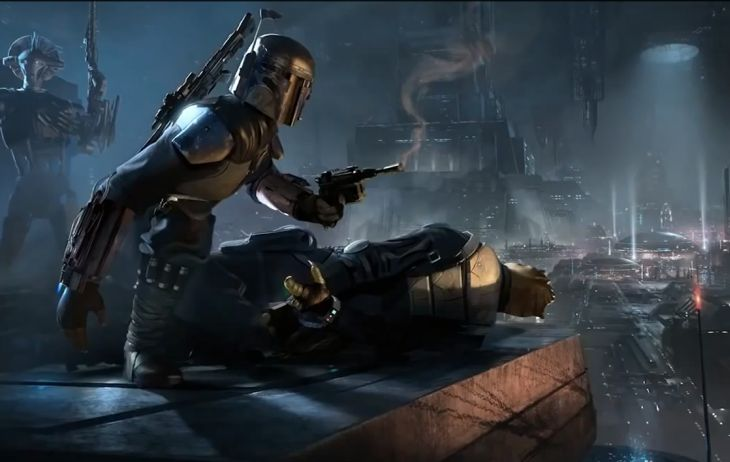 Star Wars 1313 Boba Fett in action