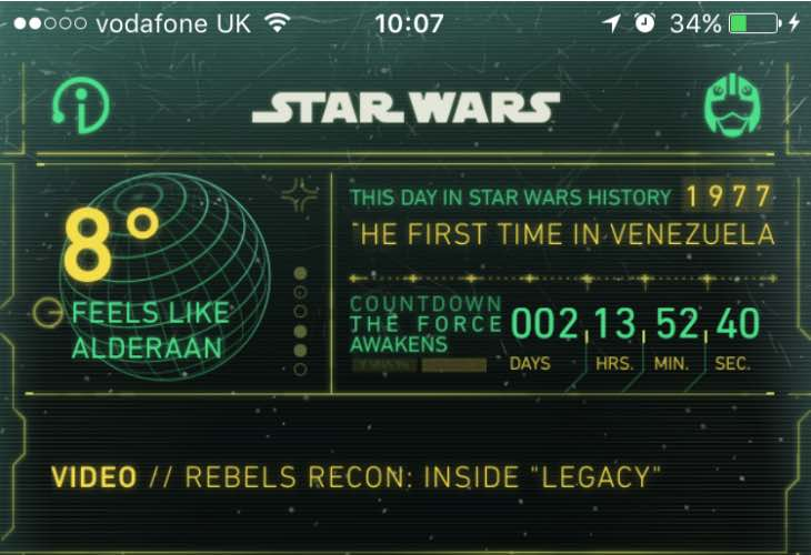 Star Wars- The Force Awakens countdown