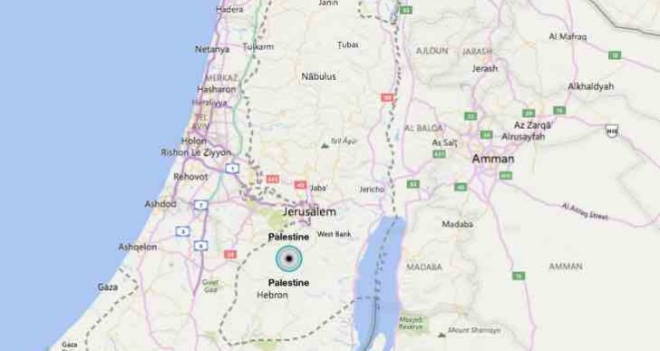 State of Palestine on Bing maps, just not Google