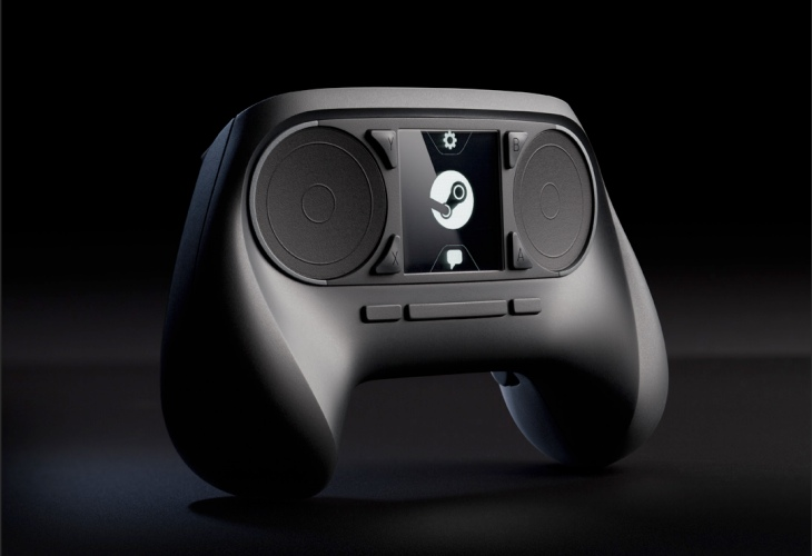Steam Controller on the sofa