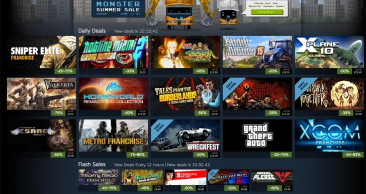 Steam Summer Sale games list live with GTA V